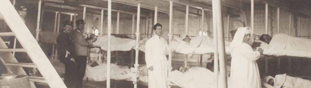 Le navire-hôpital pour les blessés de guerre